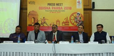 Mr Sidhartha Pradhan President Odia Samaj addressing the press conference
