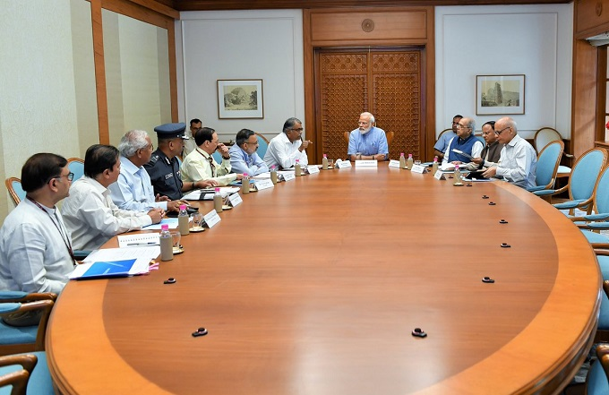 Prime Minister Narendra Modi chaired a high-level meeting -aajira-odisha
